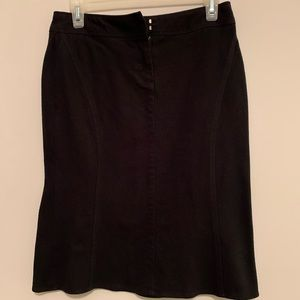 Express, Top of knee length, black, Pencil Skirt